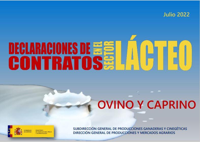 Cubierta de Declaraciones de Contratos en el Sector Lácteo: Ovino y Caprino
