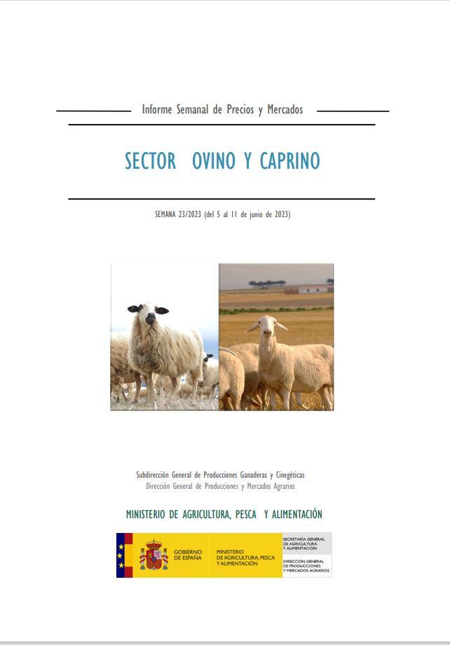 Cubierta de Informe Semanal de Precios y Mercados: Sector Ovino y Caprino