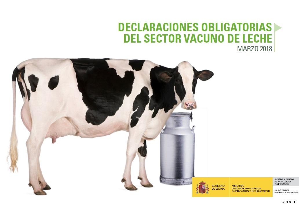 Cubierta de Declaraciones Obligatorias del Sector Vacuno de Leche