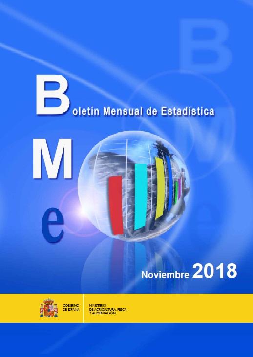Cubierta de Boletín mensual de estadística