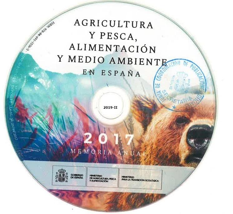 Cubierta de Agricultura y pesca, alimentación y medio ambiente en España