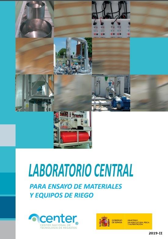 Cubierta de Laboratorio central para ensayo de materiales y equipos de riego