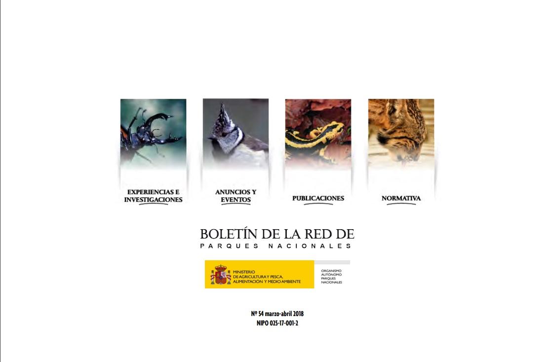 Cubierta de Boletín de la Red de Parques Nacionales