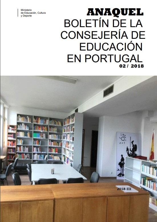 Cubierta de Anaquel : Boletín Informativo de la Consejería de Educación en Portugal