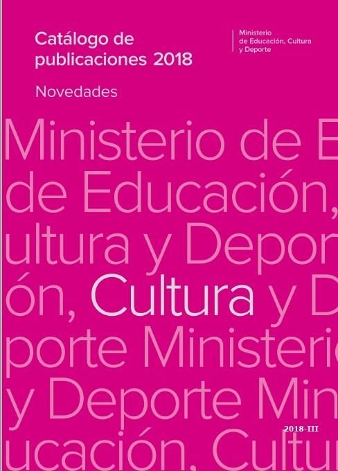 Cubierta de Catálogo de publicaciones del Ministerio de Educación, Cultura y Deporte. Cultura