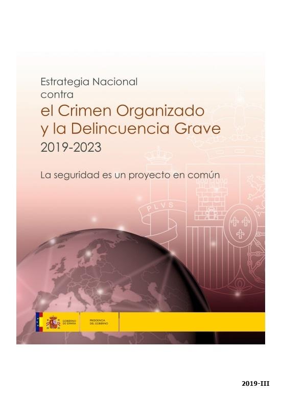Cubierta de Estrategia nacional contra el crimen organizado y la delincuencia grave 2019-2023: la seguridad es un proyecto común