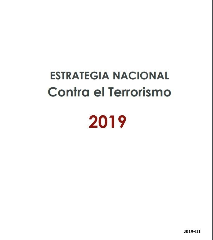 Cubierta de Estrategia nacional contra el terrorismo 2019