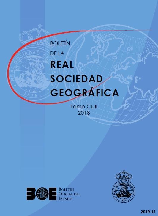 Cubierta de Boletín de la Real Sociedad Geográfica