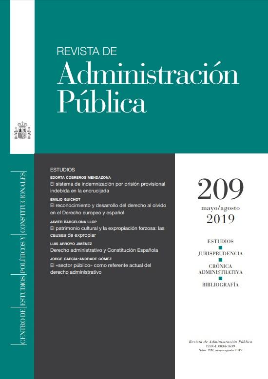 Cubierta de Revista de Administración Pública