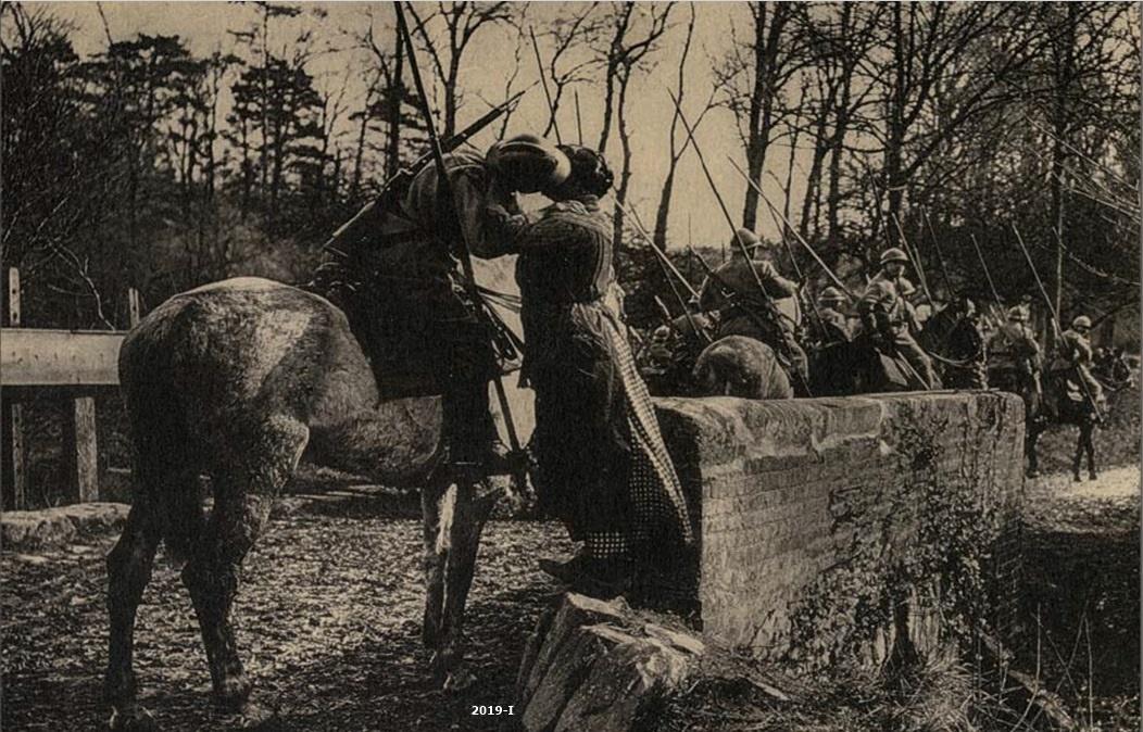 Cubierta de Soldado despidiéndose de una joven (Cartas al Rey: la mediación humanitaria de Alfonso XIII en la Gran Guerra)