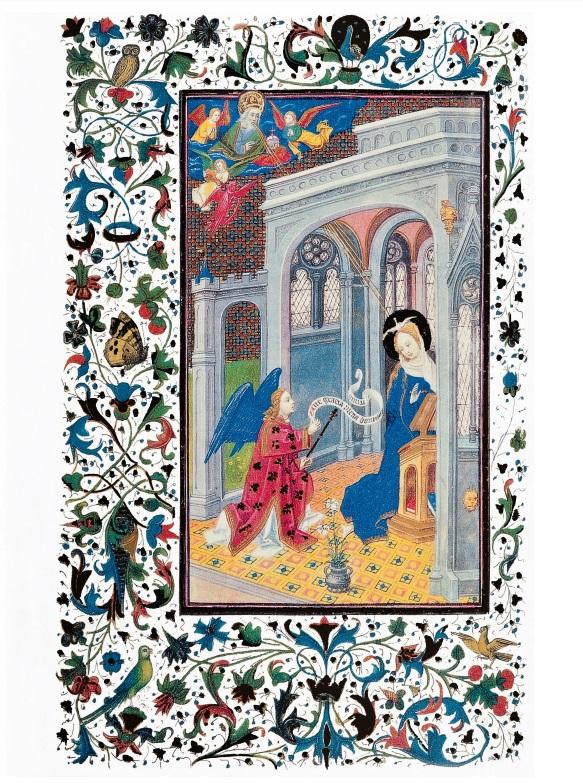 Cubierta de La Anunciación: Libro de Horas de Isabel la Católica. Siglo XV (Tarjeta de Navidad)