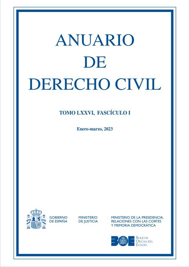Cubierta de Anuario de Derecho Civil