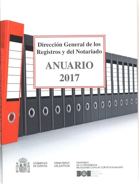 Cubierta de Anuario de la Dirección General de los Registros y del Notariado