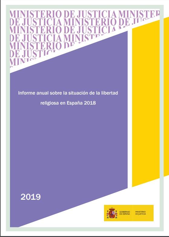 Cubierta de Informe anual sobre la situación de la libertad religiosa en España