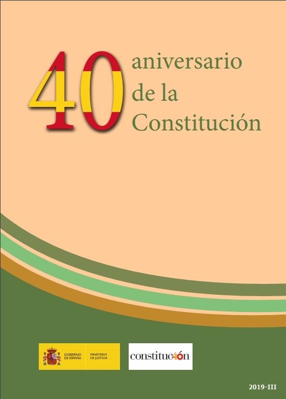 Cubierta de 40 Aniversario de la Constitución