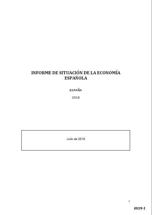 Cubierta de Informe de Situación de la Economía Española