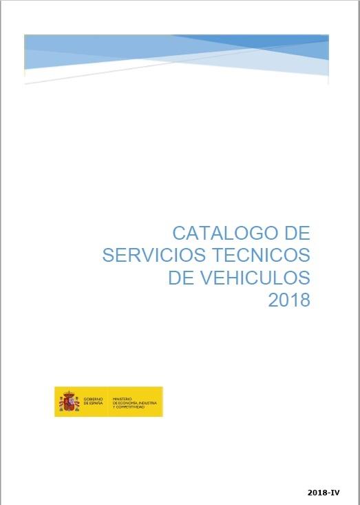 Cubierta de Catálogo de Servicios Técnicos de Vehículos