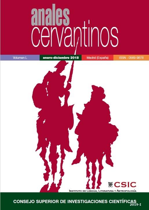 Cubierta de Anales Cervantinos