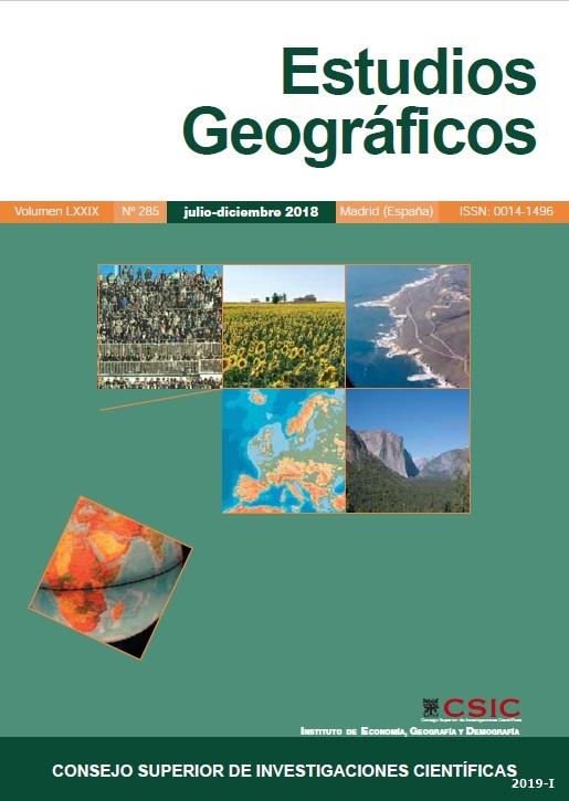 Cubierta de Estudios Geográficos