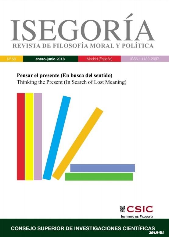 Cubierta de Isegoría : Revista de Filosofía Moral y Política