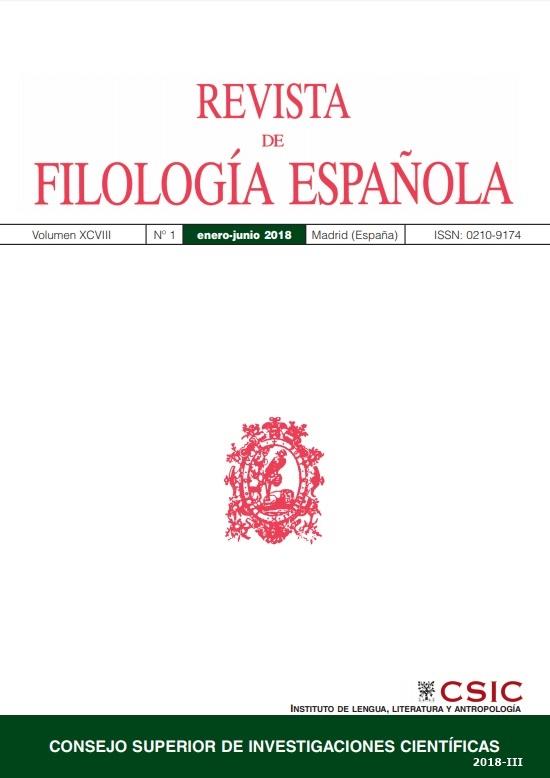 Cubierta de Revista de Filología Española