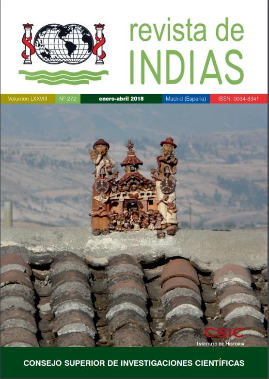 Cubierta de Revista de Indias