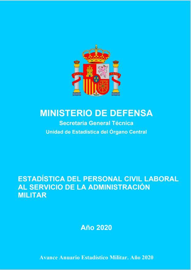 Cubierta de Estadística del Personal Civil Laboral al Servicio de la Administración Militar