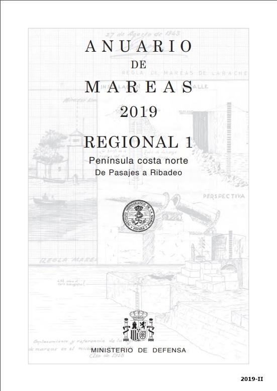 Cubierta de Anuario de Mareas. Regional 1