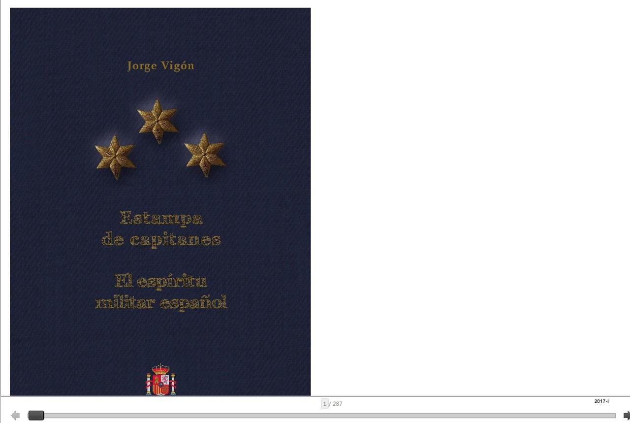 Cubierta de Estampa de capitanes. El espíritu militar español