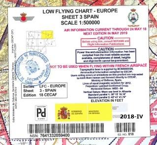 Cubierta de Sheet 3 Spain (Low flying chart - Europe)