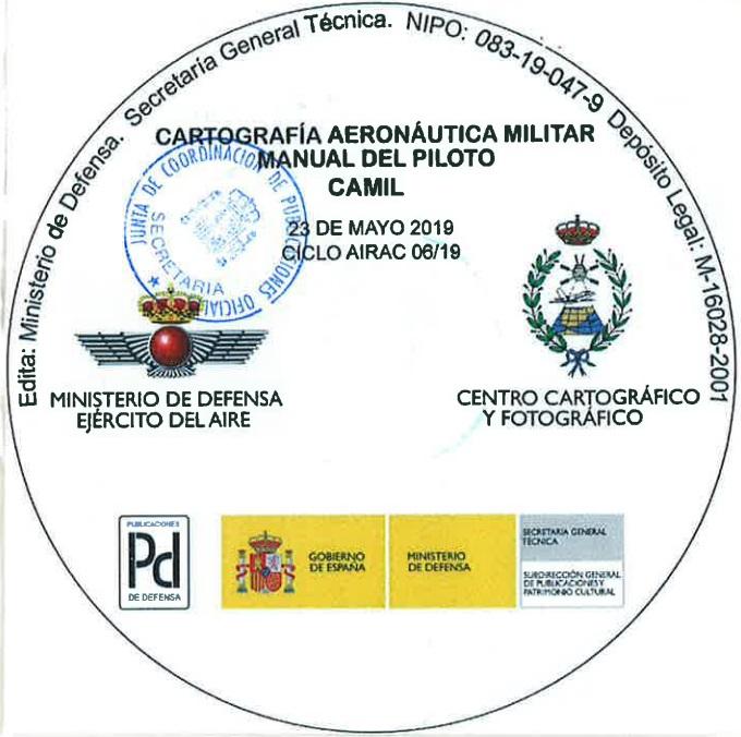 Cubierta de Ciclo airac 07/19 - 20 de junio de 2019 (Cartografía aeronaútica militar: manual del piloto : CAMIL)