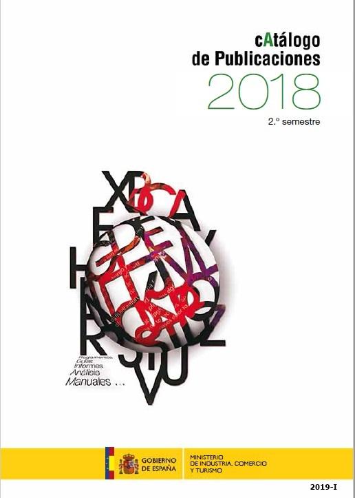 Cubierta de Catálogo General de Publicaciones del Ministerio de Energía, Turismo y Agenda Digital