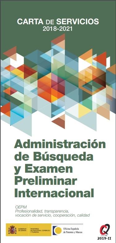 Cubierta de Administración de búsqueda y examen preliminar internacional: carta de servicios 2018-2021