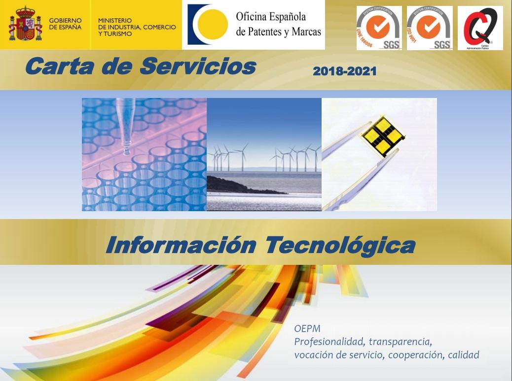 Cubierta de Carta de servicios 2018-2021: información tecnológica