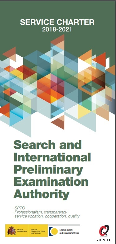 Cubierta de Search and international preliminary examination authority: service charter 2018-2021