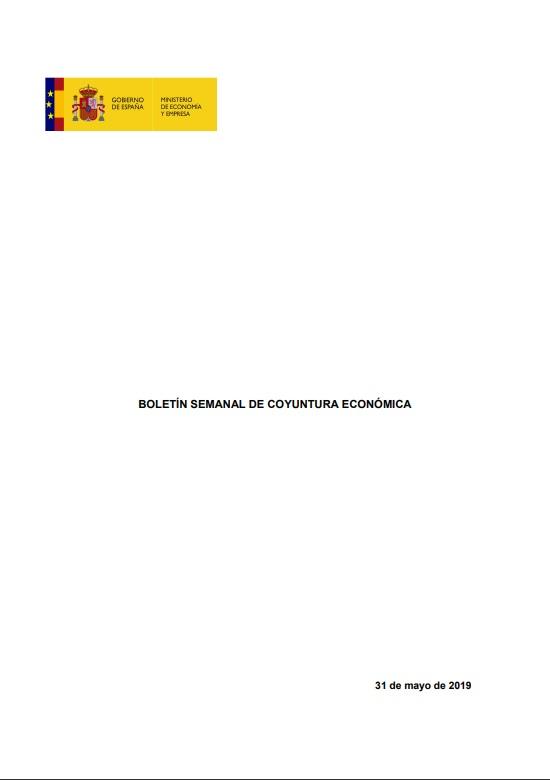 Cubierta de Boletín Semanal de Coyuntura Económica