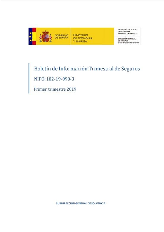Cubierta de Boletín de Información Trimestral de Seguros