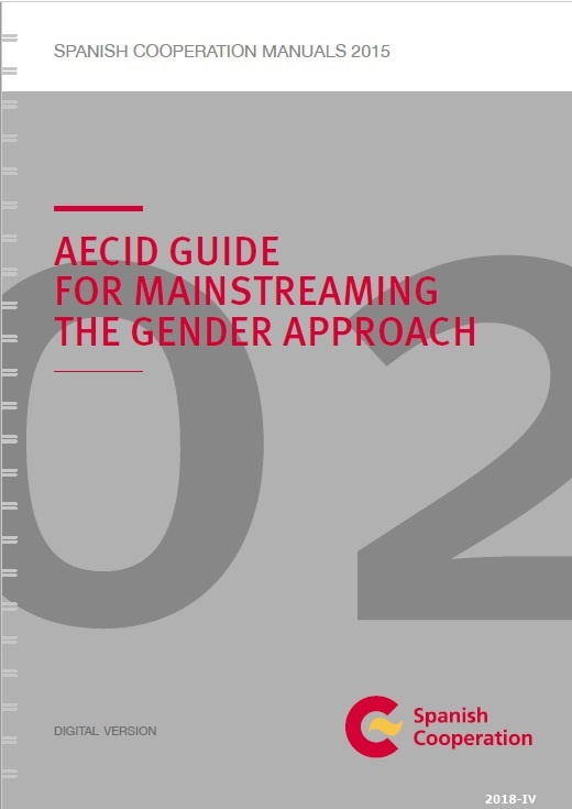 Cubierta de AECID guide for mainstreaming the gender approach