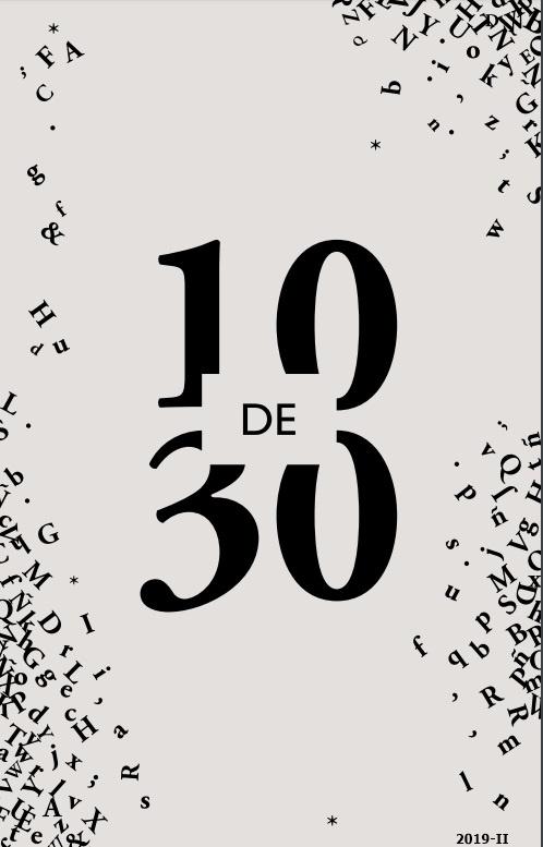 Cubierta de 10 de 30 = 10 of 30: new Spanish narrative