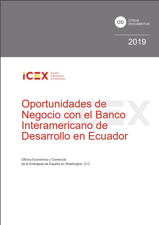 Cubierta de Oportunidades de negocio con el Banco Interamericano de Desarrollo en Ecuador 2019 (Estudios e informes de comercio exterior)
