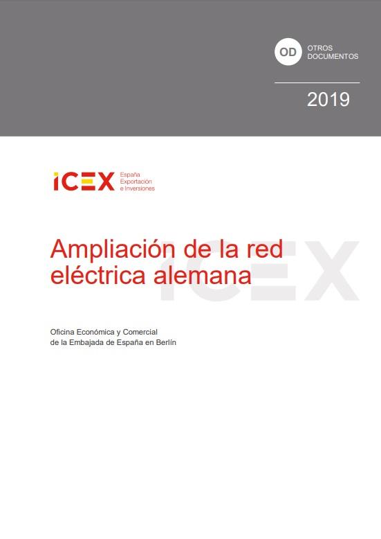 Cubierta de Ampliación de la red eléctrica alemana 2019 (Estudios e informes de comercio exterior)