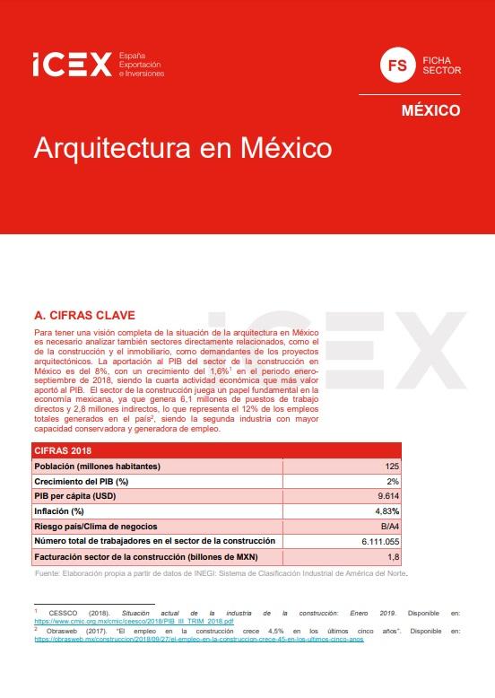 Cubierta de Arquitectura en México 2019 (Fichas Sector)
