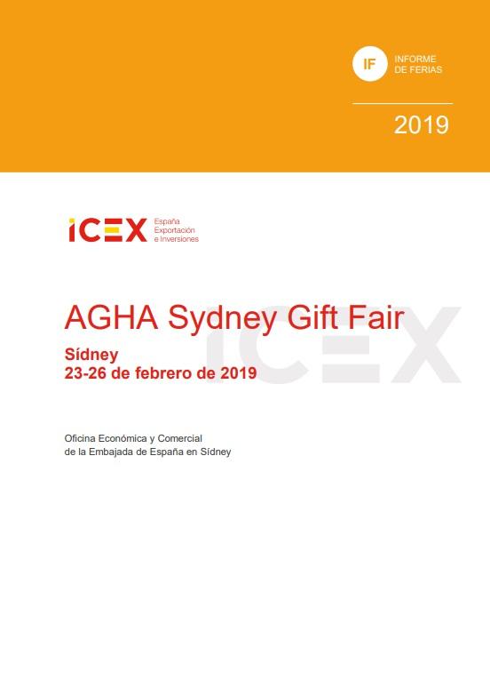 Cubierta de AGHA Sydney Gift Fair: Sídney : 23-26 febrero 2019 (Informes de Feria)