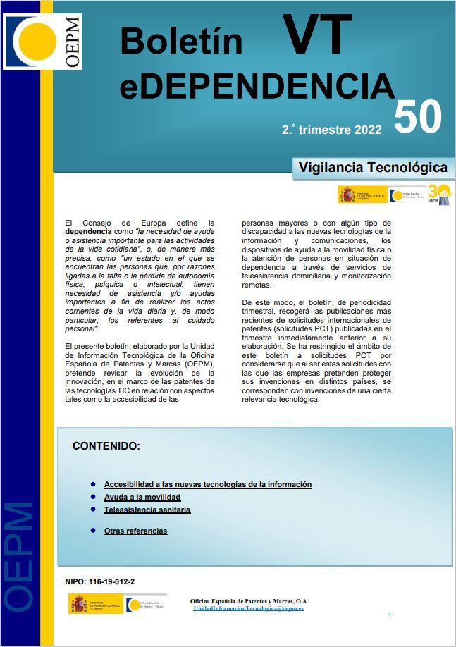 Cubierta de Boletín VT. eDependencia
