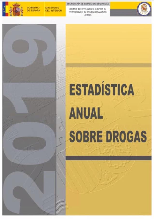 Cubierta de Estadística Anual sobre Drogas