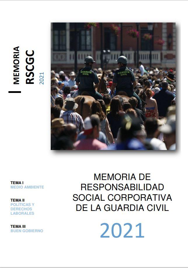 Cubierta de Memoria de la Responsabilidad Social Corporativa de la Guardia Civil