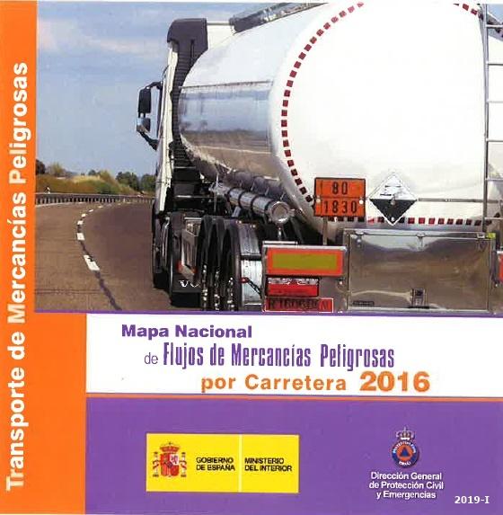 Cubierta de Mapa nacional de flujos de mercancías peligrosas por carretera 2016
