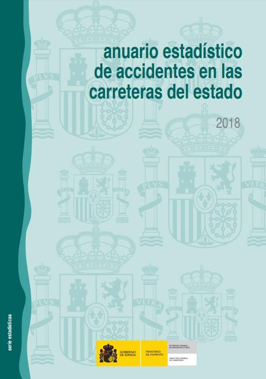 Cubierta de Anuario Estadístico de Accidentes en las Carreteras del Estado