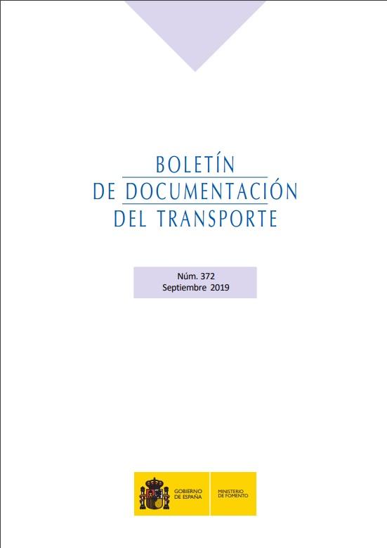 Cubierta de Boletín de Documentación del Transporte