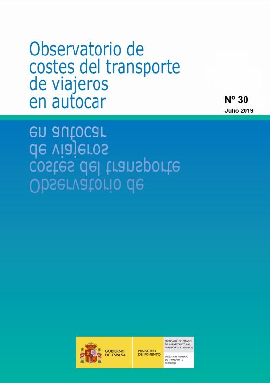 Cubierta de Observatorio de Costes del Transporte de Viajeros en Autocar